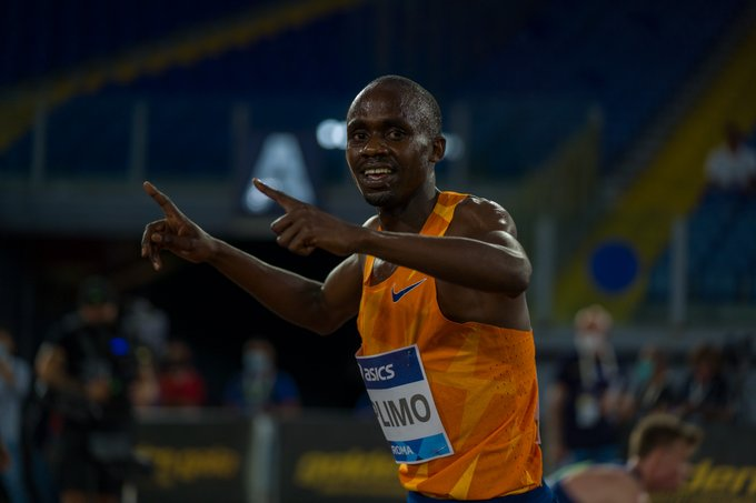 Jacob Kiplimo wins 3000m at Diamond League in Italy.