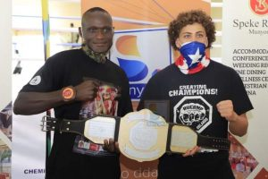 Read more about the article Kickboxing: UPDF's Titus Tugume beats American Teenager Camacho by Technical Knockout