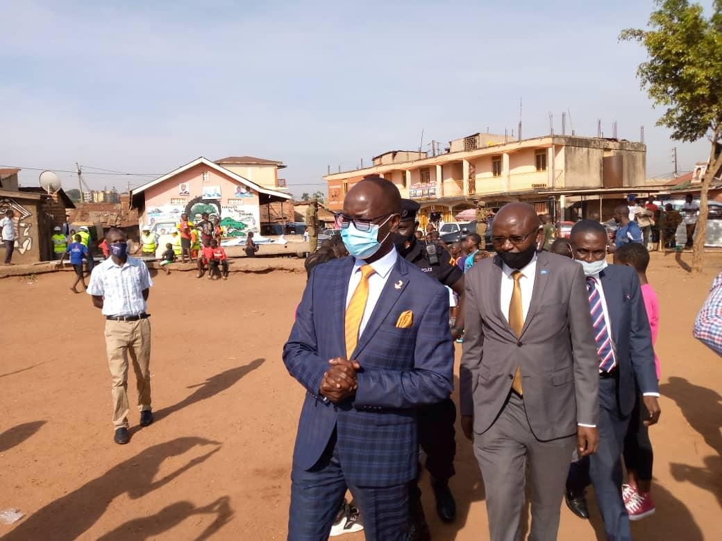 Sports Minister Hamson Obua breaks ground for the construction of a state of the art sports complex in Kamwokya