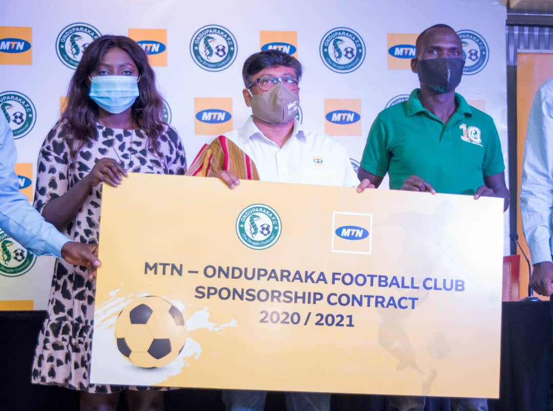 Onduparaka Football Club and telecommunication giants MTN renew their pact for the rest of the season